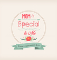 happy mother day with florals and label vector image vector image