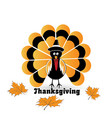 happy thanksgiving turkey card icon vector image vector image