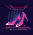 heels shoes female retro style vector image vector image