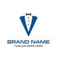 initial logo design v vector image