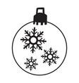isolated christmas ball vector image