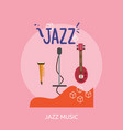 jazz music conceptual design vector image
