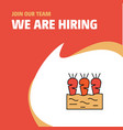 join our team busienss company carrots farm we vector image