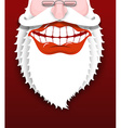 Jolly Santa Claus Joyful grandfather with white vector image vector image