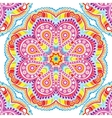 kaleidoscopic floral pattern mandala vector image vector image