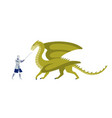 knight fighting with dragon flat vector image vector image