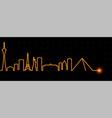 las vegas light streak skyline vector image