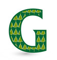 letter g christmas festive font icon vector image vector image