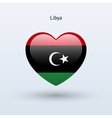 Love Libya symbol Heart flag icon vector image vector image