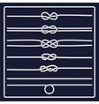 Marine rope knot vector image vector image
