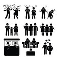 marriage family problem couple husband wife with vector image vector image