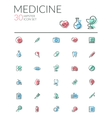 Medical icons pack vector image vector image