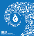 Money bag icon Nice set of beautiful icons vector image