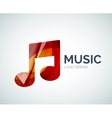 Music note icon logo made of color pieces vector image vector image
