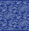 ocean waves seamless pattern blue and white colors vector image vector image