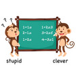 opposite words stupid and clever vector image vector image