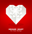 origami heart background vector image vector image