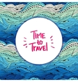 Pattern Sea Blue Big Travel vector image