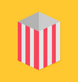 popcorn red yellow strip square empty paper box vector image vector image