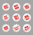 realistic tilted price tags collection special vector image