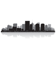 Richmond USA city skyline silhouette vector image vector image