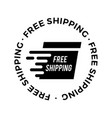 shipping free delivery logo icon vector image