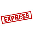 square grunge red express stamp vector image vector image