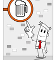 Square guy - Beer shop vector image