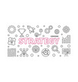 strategy outline horizontal banner vector image