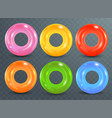 swim rings set on transparent background vector image