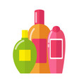 three patterns of bottles vector image