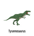 tyrannosaurus icon flat style vector image