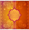 Vintage beige flowers ornament in Indian style vector image vector image