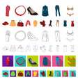 women s clothing cartoon icons in set collection vector image vector image