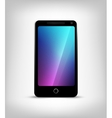 Perfectly detailed modern smart phone isolation vector image