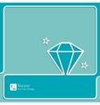 Diamond icon outline vector image