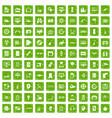 100 set grunge green vector image vector image