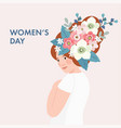 8th march international womens day greeting card vector image