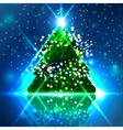 Abstract Christmas tree on the colorful background vector image
