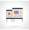 Advertising boards color flat color icon vector image
