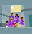 afro american family dark skinned superheroes vector image vector image