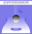 an abstract guitar musical template vector image