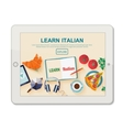 App for study Italian language vector image