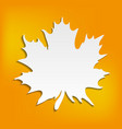 autumn abstract orange background with blank leaf vector image vector image