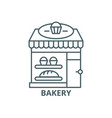 bakery line icon bakery outline sign vector image vector image