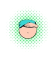 Belly of pregnant women icon comics style vector image