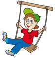 boy on swing vector image