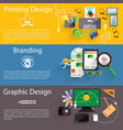 Branding graphic and printing design icon set vector image
