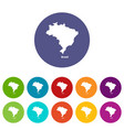 brazil map icon simple style vector image vector image