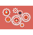 Business Icons in Gears vector image vector image